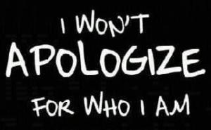 no appology